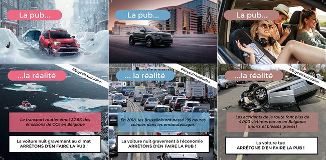 Des pubs pour des voitures polluantes versus la réalité