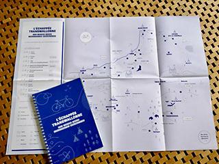 Roadbook et carte de l'échappée transwallonne