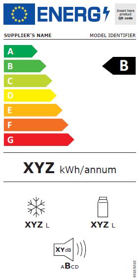Nouvelle étiquette énergie pour un frigo