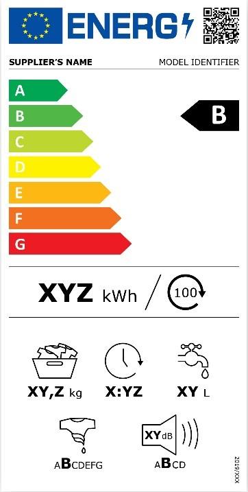 Nouvelle étiquette énergie pour un lave-linge