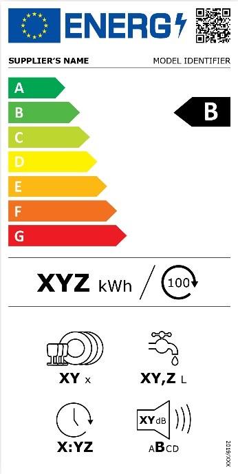 Nouvelle étiquette énergie pour un lave-vaisselle