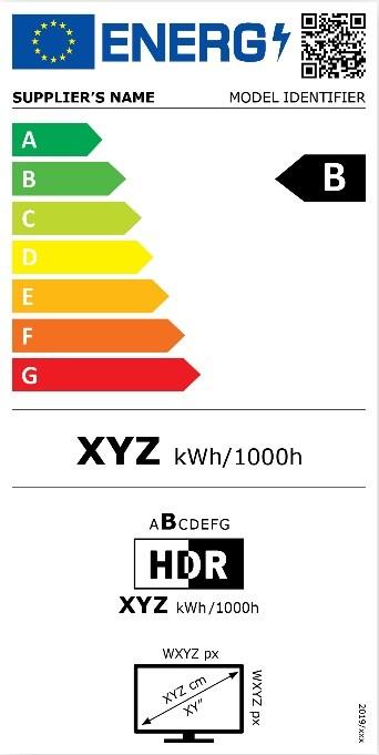 Nouvelle étiquette énergie pour une TV
