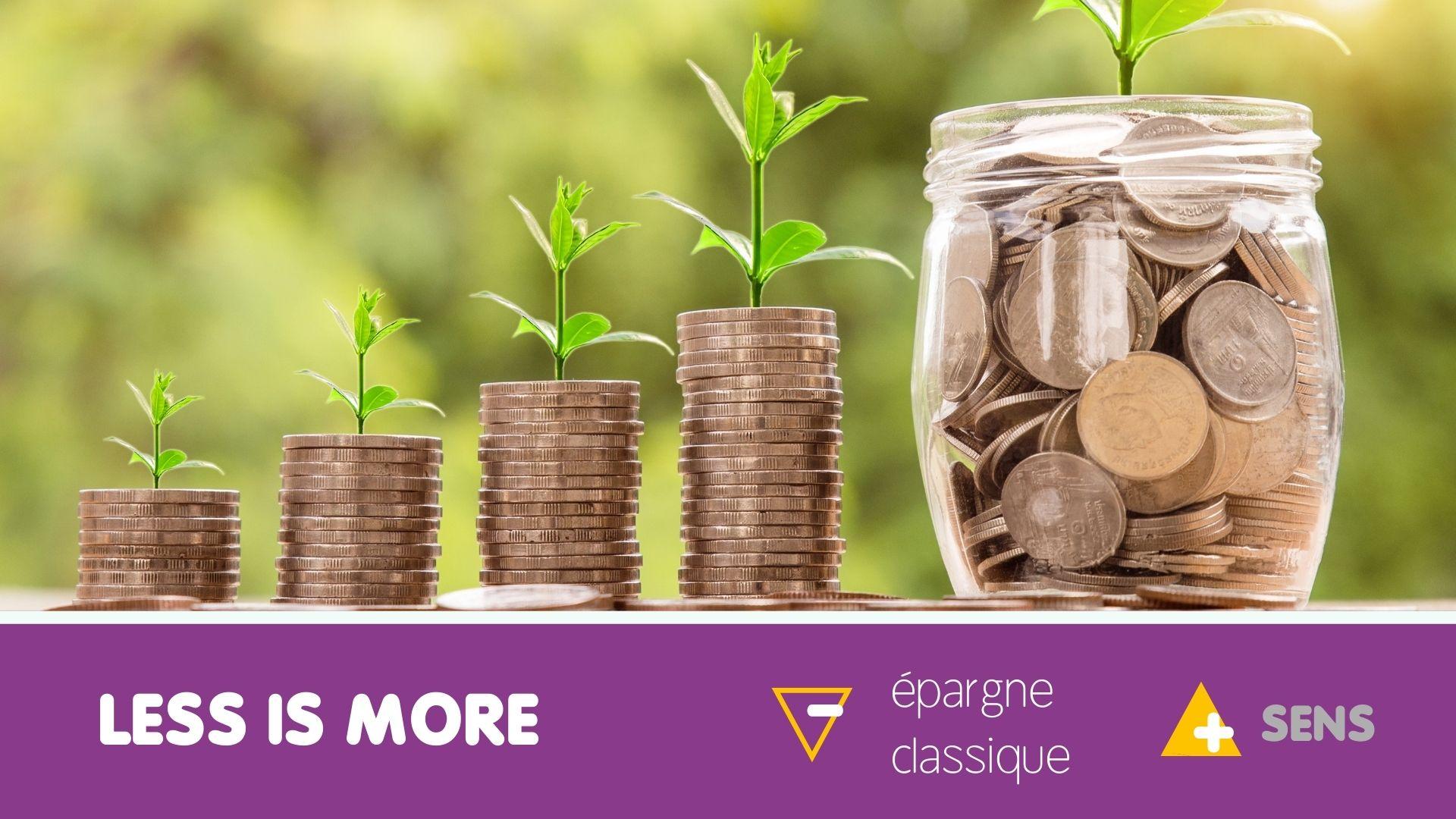 Webinaire moins d'épargne classique pour plus de sens