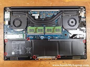 L'intérieur d'un ordinateur portable