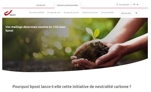 Bpost fait de la compensation carbone automatique