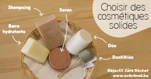 Les cosmétiques solides pour moins d'emballages
