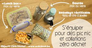 Astuce zéro déchet : s'équiper d'un kit réutilisable pour les pic nic et collations