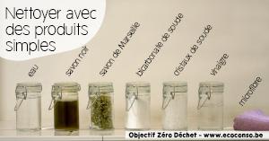 Astuce zéro déchet : utiliser quelques produits d'entretien simples