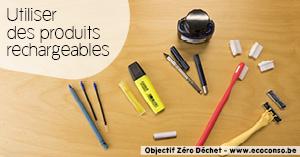 Astuce zéro déchet : utiliser des produits rechargeables
