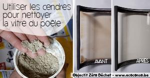 Astuce zéro déchet : nettoyer la vitre de son poêle avec les cendres