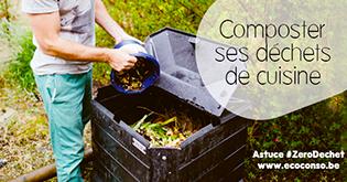 Mis au compost, les déchets de cuisine produisent de l'engrais