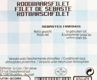 exemple étiquette poisson zone de peche marquae de salubrité