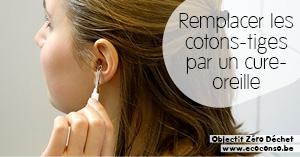 Astuce zéro déchet : remplacer les cotons-tiges jetables par un cure-oreilles