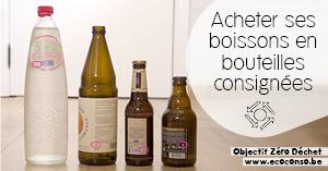 Astuce zéro déchet : choisir des boissons en bouteilles consignées