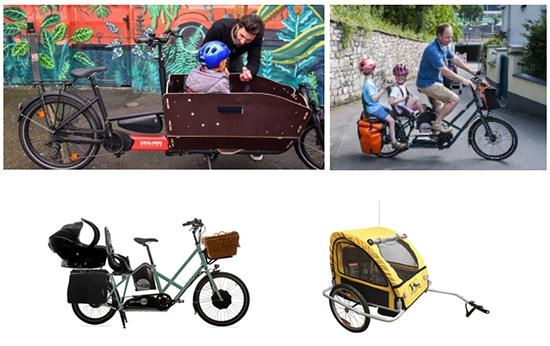 Des solutions pour le transport des enfants à vélo