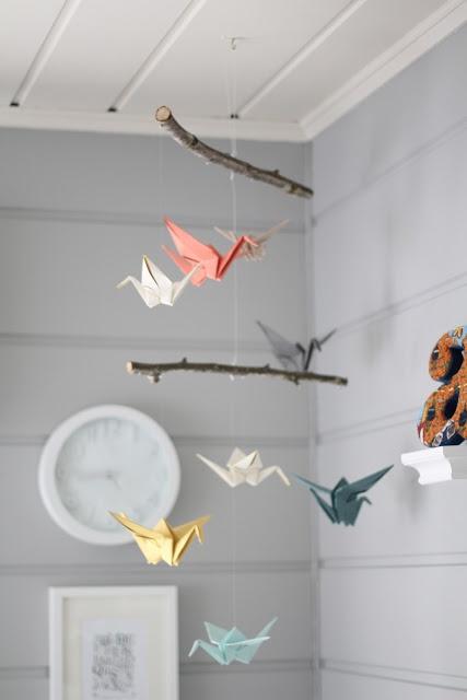 mobile origami DIY