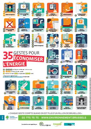 Poster 35 gestes pour économiser l'énergie