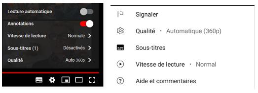 réglage de la qualité et de l'autoplay sur Youtube, sur ordinateur et sur smartphone