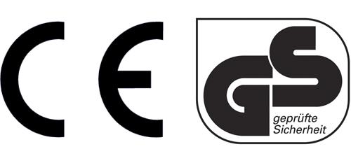 Marquages de sécurité pour jouets CE et GS
