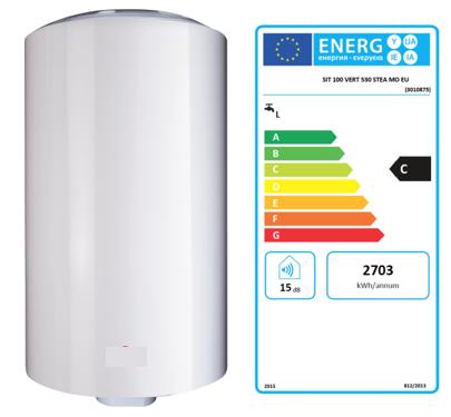 Exemple de boiler électrique et son étiquette énergie