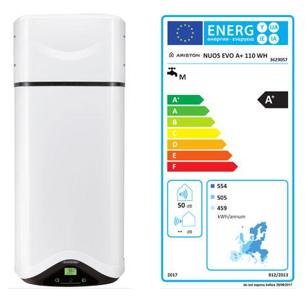 Exemple de chauffe-eau thermodynamique et son étiquette énergie
