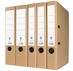 Classeur en carton recyclé et labellisé, aux coins renforcés