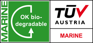 Label biodegradable marine