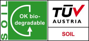 Label biodegradable soil