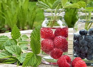 Quelques fruits pour améliorer de l'eau du robinet