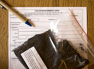 Fiche à compléter pour le laboratoire d'analyse du sol