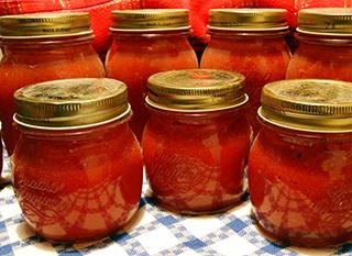 Bocal de coulis de tomates stérilisé à 100°C