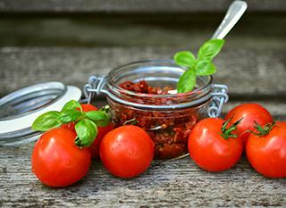 Tomates séchées conservées dans l'huile