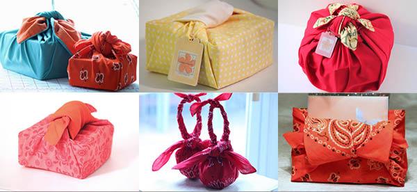 Furoshiki : suggestions d'emballages zéro déchet