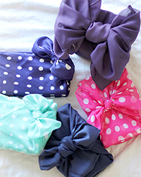 Furoshiki: emballage cadeau en tissu