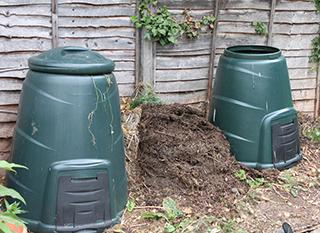 Compost en fût
