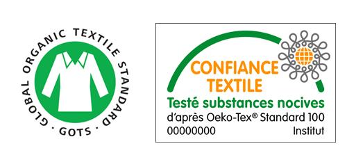 Labels pour jouets GOTS et Oekotex 100 - Confiance Textile