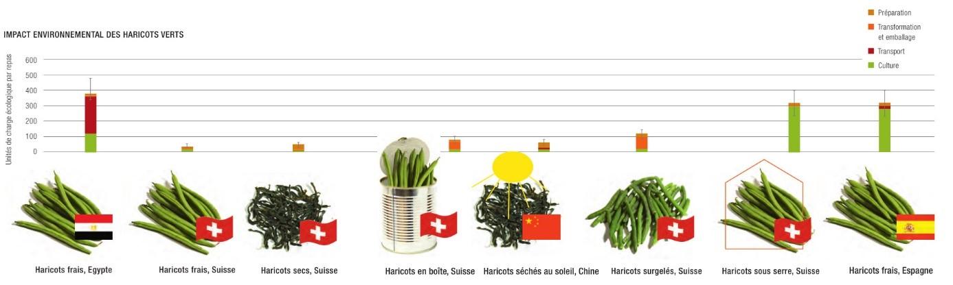 Comparaison du bilan écologique de haricots