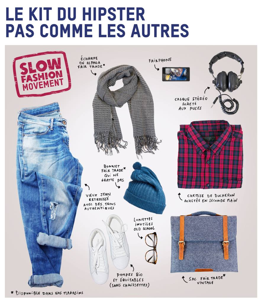 Hipster Fairtrade et seconde main
