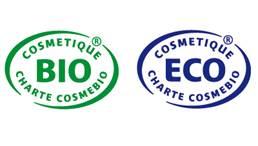 Labels Cosmebio Bio et Cosmebio Eco
