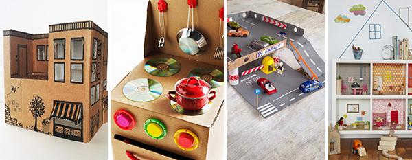 Fabriquer des jouets en carton de récup