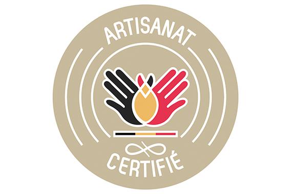 Logo artisanat certifié de Belgique