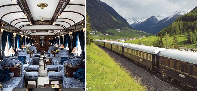 Une lune de miel dans un train de luxe