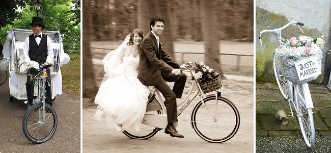 Des vélos sur leur 31 pour transporter les mariés