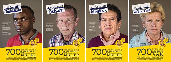 Affiches : 700 personnes apprennent un métier chez Les Petits Riens