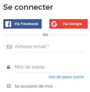 Module pour se connecter en un clic avec Google ou Facebook
