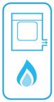 Sèche-linge au gaz à évacuation