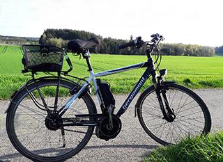 Vélo électrique avec moteur central
