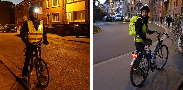 Un bon éclairage est indispensable à vélo en hiver !