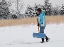 En cas de neige, déblayer rapidement avec une pelle