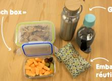 Composer son kit pour des pic nis et collations zéro déchet à l'école et au bureau